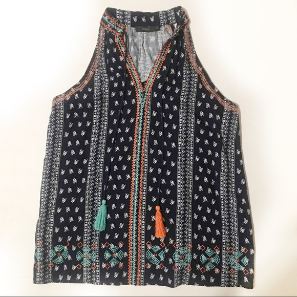 THML Tops - THML Boho High Neck Top | S